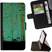 For HTC One A9 Case , Teal Arte Pittura Moose