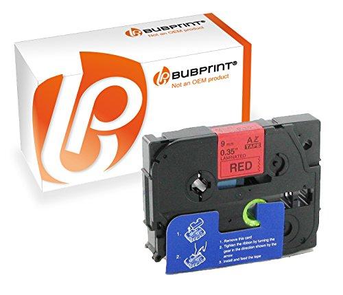 Preisvergleich Produktbild Bubprint Schriftband kompatibel für Brother TZe-421 TZe421 Schwarz auf Rot 9mm 8m