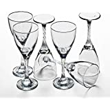 Pasabahce Crystal Cut Beautiful Wine Glass Set Of 6 Pcs | White Wine Glass Set Of 6 Pc | Red Wine Glass Set Of 6 Pc | 180 Ml | With Gift Box Packing