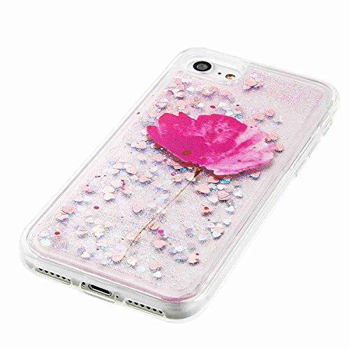 Custodia iPhone 6/6s Case Kcdream Fashion Moda Ultraslim TPU Caso Elegante Carina Souple Flessibile Morbido Silicone Copertura Perfetta Protezione Shell Paraurti Custodia Per iPhone 6 iPhone 6s (4.7 P Fiore Rosso