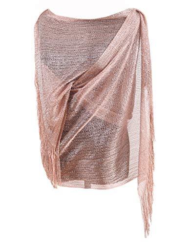 Diarylook serata sciarpa glitter delle donne avvolgere ha rubato scialle per il matrimonio, parti, damigella d'onore, foulard con frangia