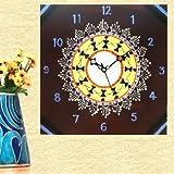 Kalaplanet Wooden Wall Clock - Warli Cel...