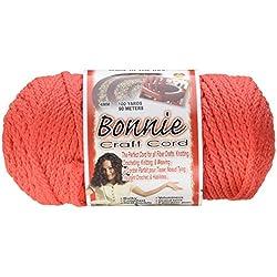 Pepperell Bonnie de macramé Craft Cord 4mm x 100m. -Coral