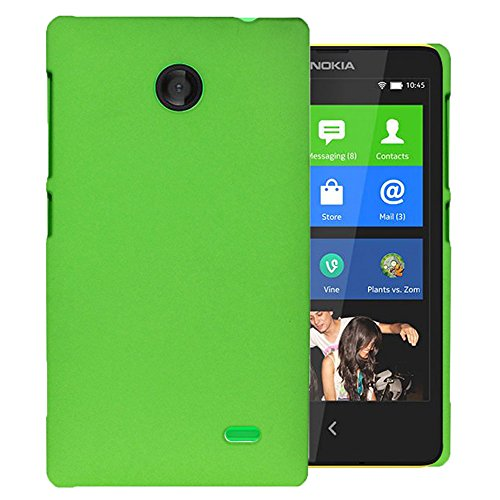 Heartly QuickSand Matte Finish Hybrid Flip Thin Hard Bumper Back Case Cover For Nokia X - Glowing Green  available at amazon for Rs.179