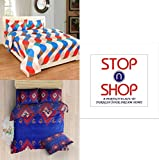 #8: Stop N Shopp Grace Cotton Combo Set Of 2 King Size Double Bedsheet With 4 Pillow Covers