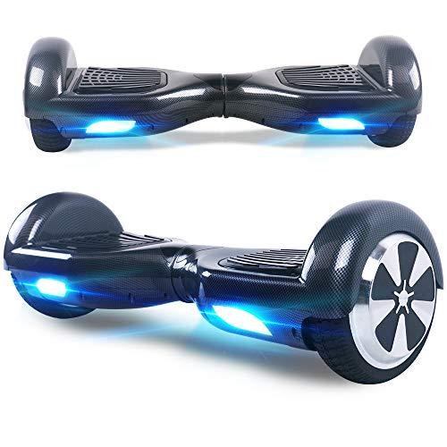 "BEBK Hoverboard, 6.5\"" Self Balance Scooter mit 2 * 250W Motor, LED Lights Elektro Scooter (Carbon)"