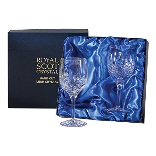 Royal Scot Crystal London grand vin paire de verre