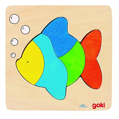 Goki 57821 - Einlegepuzzle - Fisch