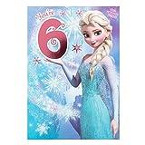 Hallmark Biglietto di auguri per 3° compleanno, tema Disney Frozen'Magical Wishes', misuraM Elsa 6°
