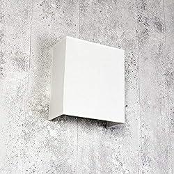 Stoff Wandleuchte Weiß eckig Loft E27 modernes Design Wandlampe Schlafzimmer Wohnzimmer Flur ALICE