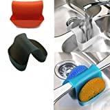 #4: Rian's Online Small Saddle Sink Caddy Organizer Sponge Soap Holder (1 Pc Random Color)