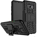 Dream2Cool FOR Samsung Galaxy S8 Tough Hybrid Flip Kick Stand Spider Hard Dual Shock Proof Rugged Armor Bumper Back Case Cover For Samsung Galaxy S8 - BLACK