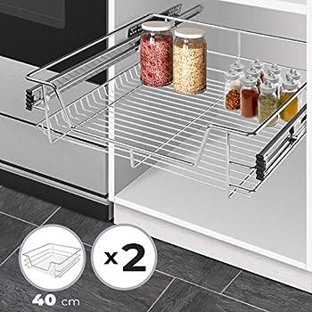 WENKO Schrankauszug Maxi Auszug Ausziehbare Ablage Küchenmöbel Wenko