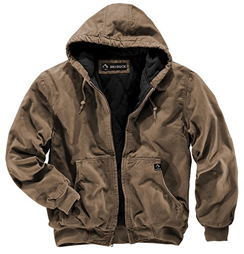 DRI Duck 5020 Cheyenne Herren Arbeitsjacke mit Kapuze L Field Khaki - Segeltuch-jacke