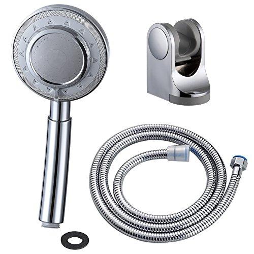 Ciencia doccetta acqua della testa di filtro doccia universale componenti 3 vie spray mano doccia ad alta pressione doccia palmare (bs143f2,con tubo)