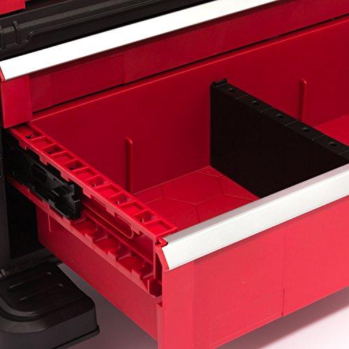 Keter 5 Drawer Tool Chest Set Acetal Slides, 1 Stück, schwarz / rot / silber, 17199301 - 8