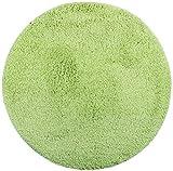 Brandeller - Tappetino da Bagno Rotondo, ca. Diametro: 60 cm, Poliestere, Verde, Diametro 60 cm