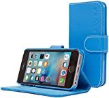 iPhone 5 / 5s Case, Snugg - Blue Leather iPhone 5/5s Flip Case [Lifetime Guarantee] Premium Wallet Phone Cover with Card Slots for Apple iPhone 5 / 5s