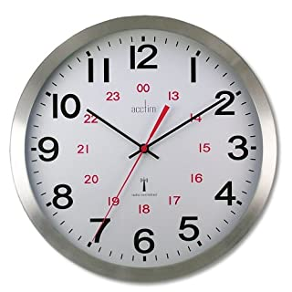 Acctim 74457 Century Radio Controlled Wall Clock, Aluminium