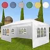 Miadomodo Gazebo tendone da giardino esterno 3 x 6 m colore a scelta (bianco)