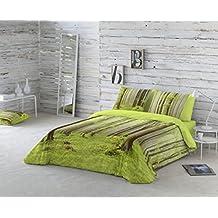 COTTON ART- Funda Nórdica BOSQUE Cama de 105 (180X260cm)+ 1 FUNDA DE ALMOHADA (45X120cm). ALGODÓN 100%. Disponible para cama de 90,105,135,150 y 180.