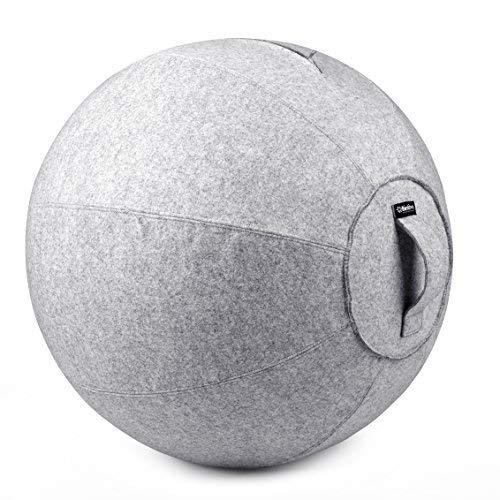 bintiva Stabilität Ball Chair für Office-Ergonomisches sitzen/Arbeit Gebären Schwangerschaft/Yoga Balance Stabilität Übung Fitness, Light Gray Overlay, 65cm (übung Cover Ball)
