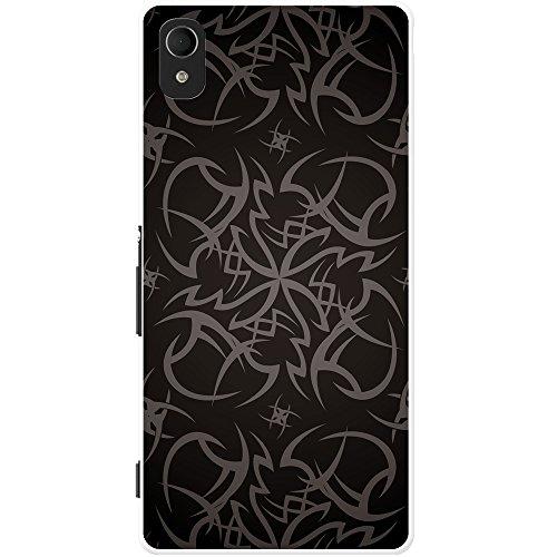 Kult-Tattoo Tribal - Grau Hartschalenhülle Telefonhülle zum Aufstecken für Sony Xperia M4 Aqua