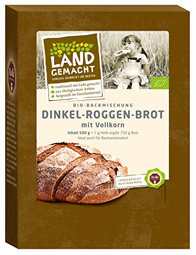 500g Bio Dinkel-Roggen-Brot - Brotbackmischung - ergibt ca. 750g Brot - Rolle Mühle - AB 30,- EURO VERSANDKOSTENFREI in D!