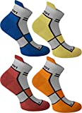normani 4 Paar Running Sport Sneaker Funktionssocken mit Frotteesohle verstärkt