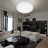 VINGO® 60W lampada da soffitto lampada con effetto di luce bianco freddo bordo di vetro motivo Original illuminazione camera camera di soggiorno