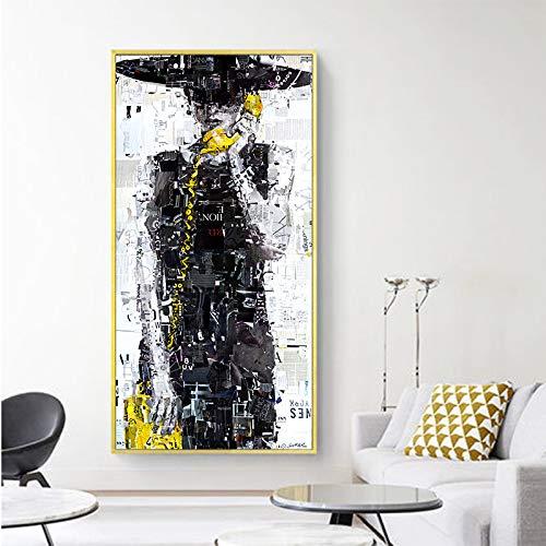 RTCKF Moderne wandkunst Druck colóful mädchen leinwand gemälde für Wohnzimmer wohnkultur (kein Rahmen) A2 50x100 cm