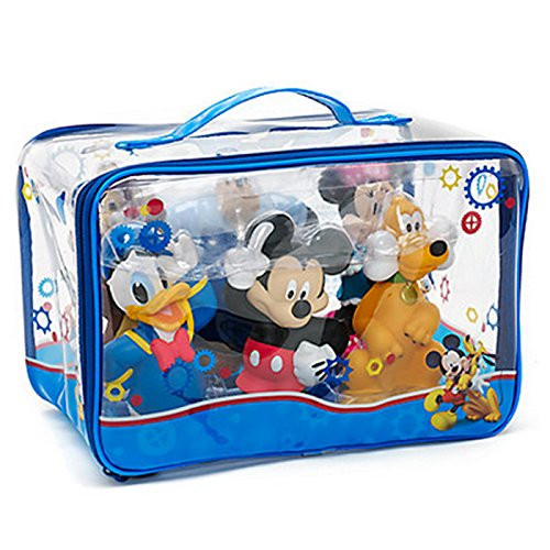 Ensemble de jouets de bain officiel Disney Mickey Mouse & Friends 6