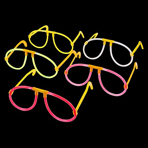 S/o 10Pack knick luce occhiali 5colori assortiti Party occhiali Occhiali luminosi occhiali knick luce Party Glow Sticks