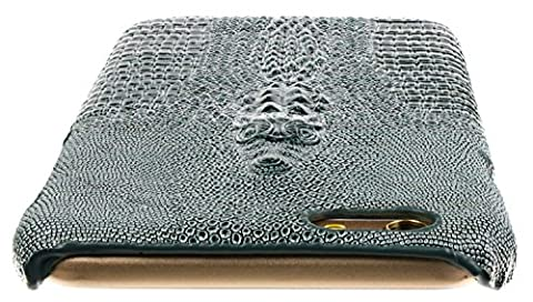3Q Luxurious iPhone 6 Case iPhone 6S Case Crocodile Design Premium Faux Leather Apple iPhone 6 Cover 4.7 inch Green