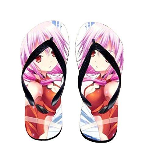 Bromeo Guilty Crown Anime Unisex Flip Flops Zehentrenner Flip Pantoffeln 535
