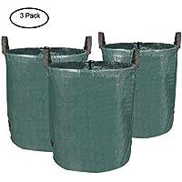 MVPOWER Bolsas de Basura de Jardín, Set de 3pcs x 272L, Gran Capacidad, de PE Material, Plegable, Resistente a la Corrosión y al Daño, para Hojas Plantas Podadas etc.