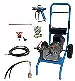 Asturo 0750002K Pumpe Hohe Druck Elektrische A Membran K500mit Kit von Lackierung empfohlen für Arbeiten von Fassade, Vorbehandlung grau/blau