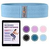 sport2people elastisches Fitnessband für Beine und Hintern - kostenlosen Ebook für Po-Übungen-...