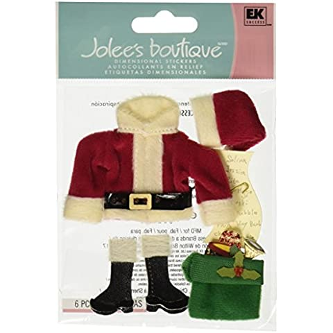Jolee's Boutique Themed Ornate Dimensional Stickers, Santa