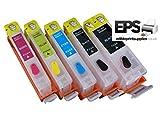 EPS Nachfüllbare essbare Tintenpatronen 550 / 551 (Canon IP7250 / MG5650 / MG5550 / MG5450)