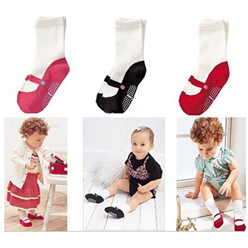Socke Tennis-schuhe (Hykis 3 Farben Baby-Sommer-Socken nette Mini Footgear Baby-Kind-Anti-Rutsch-Socken Jungen Schuh trifft M?dchen Neugeborene Socken Kinder Geschenke [Rosa])