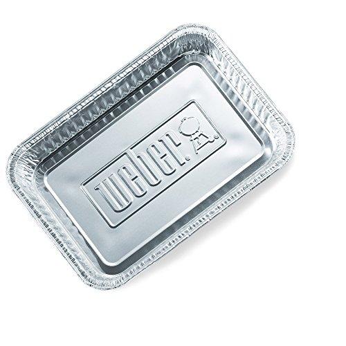 WEBER Alu-Tropfschalen, klein, 10 Stück