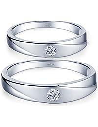 Infinite U De Moda Plata de ley 925circonita cúbica pareja/los amantes de los de banda anillo Juego de Anillos de regalo de boda promesa de compromiso aniversario, tamaño de anillo j-u
