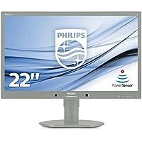 Philips 220B4LPYCG/00 55,9 cm (22 Zoll) Monitor (VGA, DVI, USB, 1680 x 1050, 60 Hz, Pivot) lichtgrau
