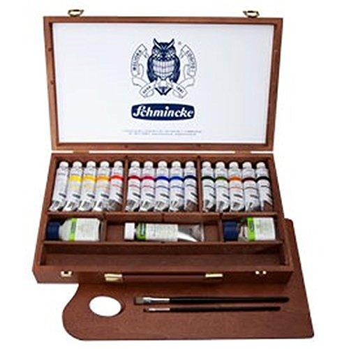 schmincke-primacryl-boite-en-bois-de15-tubes-de-peinture-acrylique-de-35ml-medium-palette-pinceau