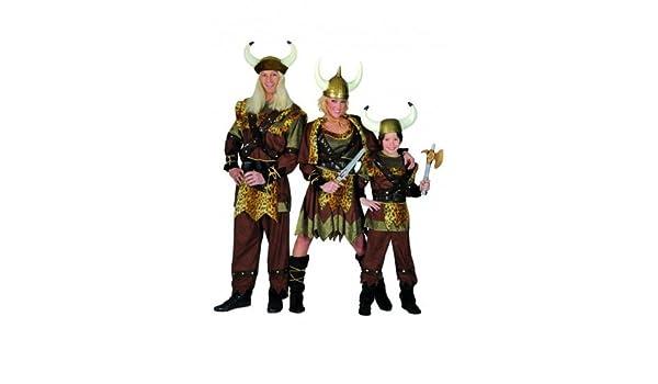 Kostüm 164 Wikinger Viking braun Kind Kinder Kind: