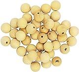 Playbox 20mm Rotonda Non verniciate Perline di Legno (100 Pezzi)