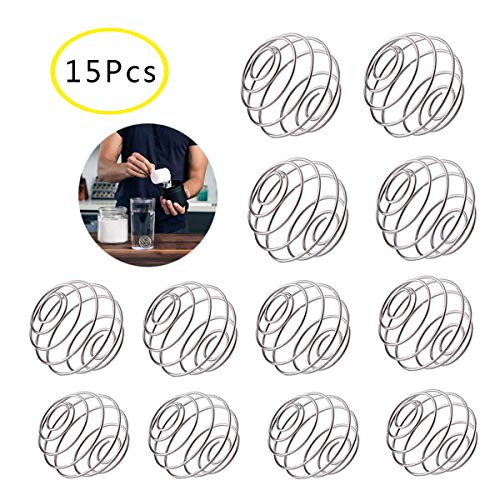 Osuter 15PCS Protein Shaker Ball Edelstahl,Mixing Ball Shaker Lightweight Protein Kugeln für Fitness Getränk Flasche Shaker Bottle(groß/mittel/klein) -