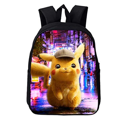 ksack Kinder,Pikachu Cartoon Muster Grundschule Rucksack Mädchen Junge,Karikatur Drucken Schultasche Rucksäcke Daypack Verschleißfest Tasche Backpack Sale (5,16 Zoll) ()