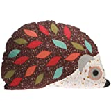 Sass & Belle Applique Hedgehog Cushion - Purple Floral (With Inner)